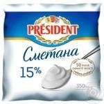 Сметана President 15% 350г - купити, ціни на Varus - фото 1