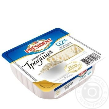 Cottage cheese President Cottage cheese tradition 0% 200g - buy, prices for Furshet - image 2