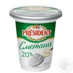 President sour cream 20% 350g - buy, prices for MegaMarket - image 1