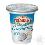 Сметана President 10% 400г - купить, цены на Фуршет - фото 1