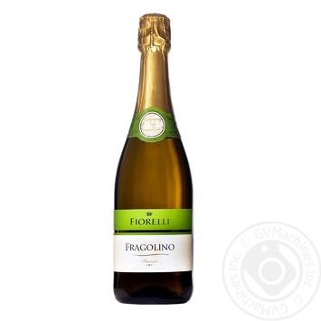 Вино игристое Fiorelli Fragolino Bianco белое полусладкое 7% 0,75л - купить, цены на Метро - фото 1