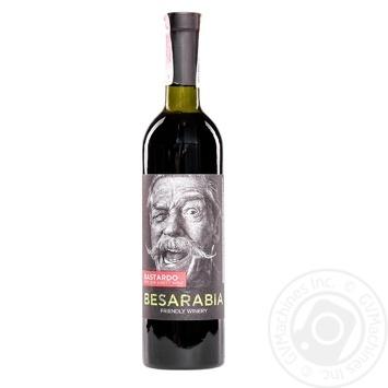 Вино Besarabia Moscato красное полусладкое 9-13% 0,75л - купить, цены на Фуршет - фото 1