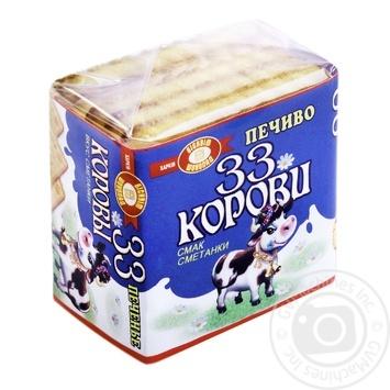 Печенье Бисквит-Шоколад 33 Коровы вкус сметанки 55г - купить, цены на Фуршет - фото 1