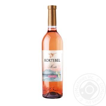 Вино Koktebel Monte Розе розовое полусладкое 13% 0,75л - купить, цены на СитиМаркет - фото 1