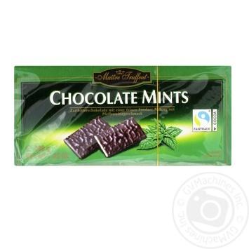 Шоколад темный Maitre Truffout с мятной начинкой 200г