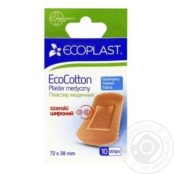 Пластырь Ecoplast медицинский тканый 72x38мм 10шт - купить, цены на Фуршет - фото 1