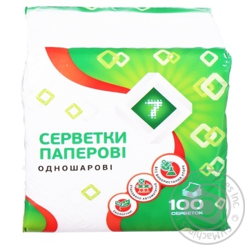 Semerka Napkins White 100pc - buy, prices for Tavria V - image 1