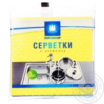 Серветка целюлозна Єврогруп 3 шт. - купить, цены на Космос - фото 1