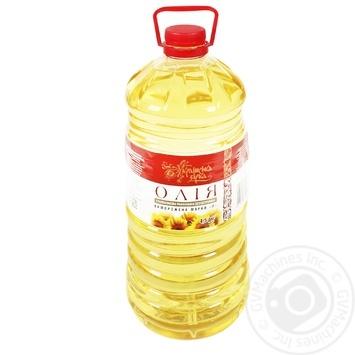 Масло подсолнечное Українська Зірка рафинированное 4.5л - купить, цены на Таврия В - фото 1