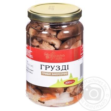 Грузди Українська Зірка маринованные закусочные 350г
