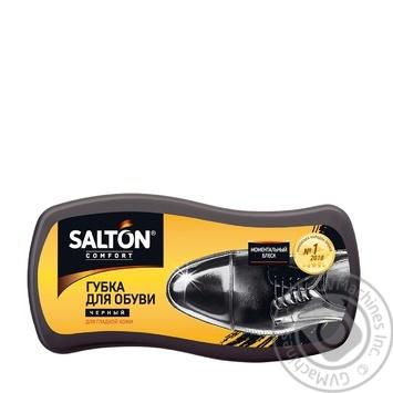 Губка для обуви из гладкой кожи Salton черная