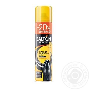 Краска для обуви из гладкой кожи Salton черная 300мл - купить, цены на Ашан - фото 2