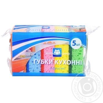 Губка кухонная Eurogroup пористая 5шт - купить, цены на Таврия В - фото 1