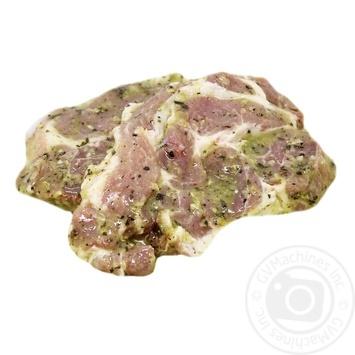 Стейк из ошейка свинной в маринаде охлажденный