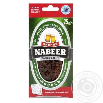 Лосось Nabeer солено-сушеный пивной 25г