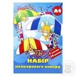 Бумага цветная офсет Фэмили Лайн 14 листов - купить, цены на Фуршет - фото 1