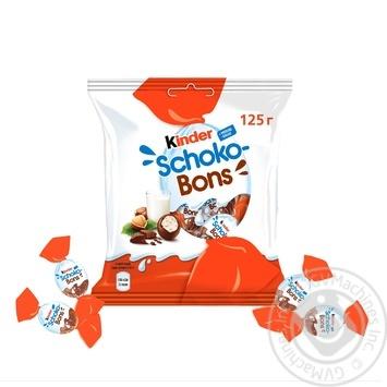Цукерки Kinder Choco-Bons із молочного шоколаду з молочно-горіховою начинкою 125г - купити, ціни на МегаМаркет - фото 3