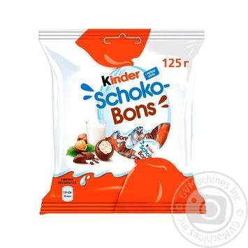 Цукерки Kinder Choco-Bons із молочного шоколаду з молочно-горіховою начинкою 125г - купити, ціни на ЕКО Маркет - фото 1