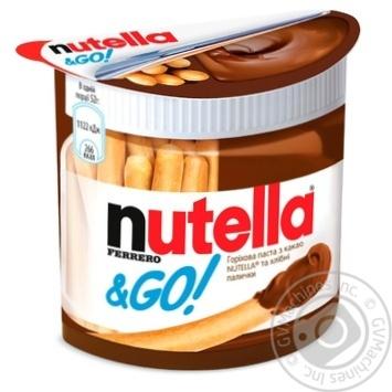 Горіхова паста Nutella з какао та Хлібні палички (Nutella&Go) 52г - купити, ціни на Восторг - фото 1