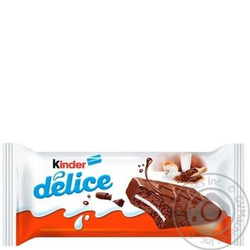 Бисквит Kinder Delice в какао глазури с молочным наполнителем 42г - купить, цены на Novus - фото 1