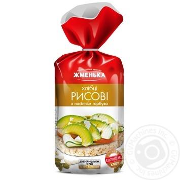 Хлебцы Жменька рисовые с семенами тыквы безглютен 100г - купить, цены на Фуршет - фото 1