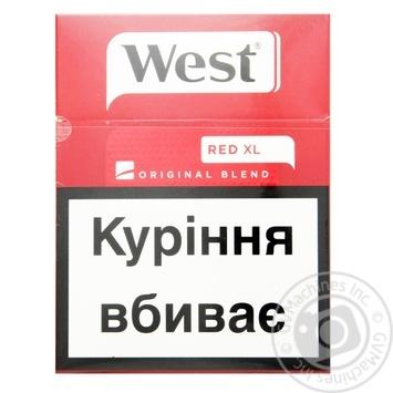Cigarettes West Original Blend Red XL 25pcs - buy, prices for Furshet - image 1