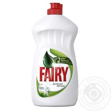 Средство для мытья посуды Fairy Зеленое яблоко 500мл - купить, цены на Фуршет - фото 1
