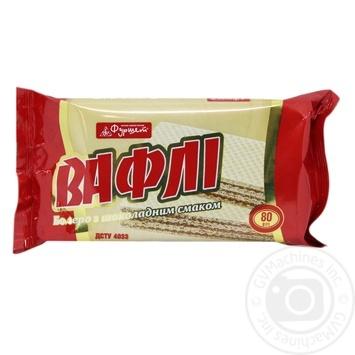 Вафли Фуршет Болеро шоколадный вкус 80г - купить, цены на Фуршет - фото 1