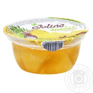 Десерт фруктовый Джолино Ананас в желе с ароматом миндального бренди 150г - купить, цены на Novus - фото 1