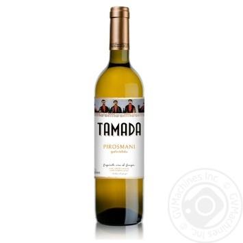 Вино Тамада Пиросмани белое полусладкое 12% 0.75л - купить, цены на Ашан - фото 1