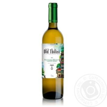 Вино Старый Тбилиси Ркацители-Мцване белое сухое 12.5% 0,75л - купить, цены на Novus - фото 1