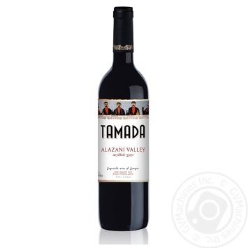 Вино Тамада Алазанская долина красное полусладкое 0,75л - купить, цены на Фуршет - фото 1