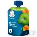 Gerber pumpkin-apricot for children from 6 month puree 90g - buy, prices for Auchan - photo 1