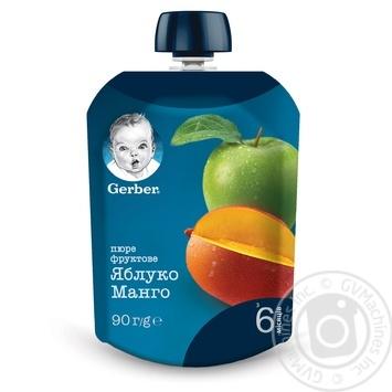 Пюре Gerber яблуко манго 90г - купити, ціни на МегаМаркет - фото 1