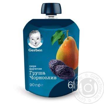 Пюре Gerber Груша і чорнослив для дітей з 6 місяців 90г - купити, ціни на Ашан - фото 4