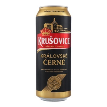Пиво Krusovice Cerne темное 3,8% 0,5л - купить, цены на Фуршет - фото 1
