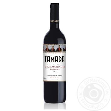 Вино Тамада Киндзмараули красное полусладкое 11% 0.75л - купить, цены на Фуршет - фото 1