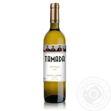 Вино Тамада Цицка белое сухое 11,5% 0,75л
