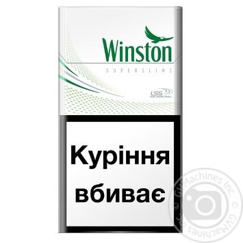 Цигарки Winston Fresh Menthol Super Slims - купити, ціни на CітіМаркет - фото 2