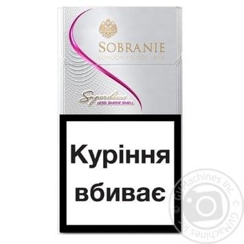 Сигареты Sobranie White Super Slims - купить, цены на СитиМаркет - фото 2