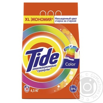 Tide Color Automat Laundry Powder Detergent 4,5kg - buy, prices for Novus - image 1