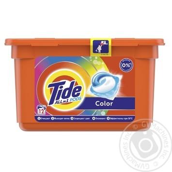 Гель-капсули Tide Color автомат 12шт 24,8г - купити, ціни на Ашан - фото 1
