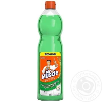 Средство Мистер Мускул для мытья стекол с нашатырным спиртом запаска 500мл - купить, цены на Ашан - фото 1