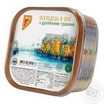 Сельдь Flagman филе-кусочки в масле с душистыми травами 300г