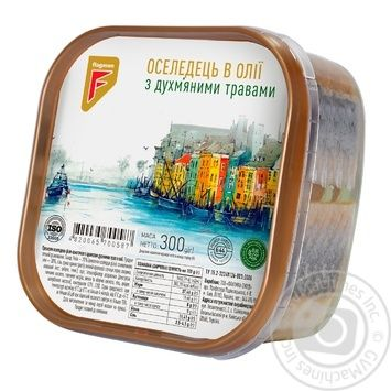Flagman Herring Fillet Pieces in Oil with Fragrant Herbs 300g - buy, prices for CityMarket - photo 1