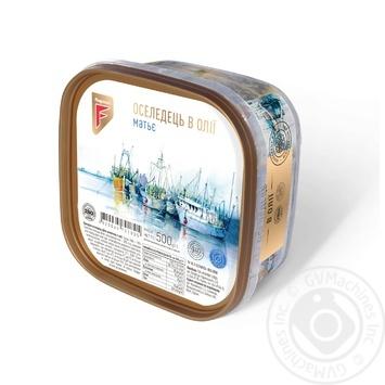 Сельдь Flagman филе-кусочки в масле 500г - купить, цены на Фуршет - фото 1