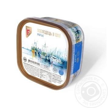 Сельдь Flagman Матье филе-кусочки в масле 500г - купить, цены на СитиМаркет - фото 2