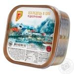 Филе-кусочки сельди Флагман в масле с дымком 300г Украина