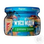 Мидии Flagman в масле с травами 200г - купить, цены на Фуршет - фото 1