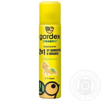 Аэрозоль Gardex Baby от комаров и мошек 80мл - купить, цены на Метро - фото 1